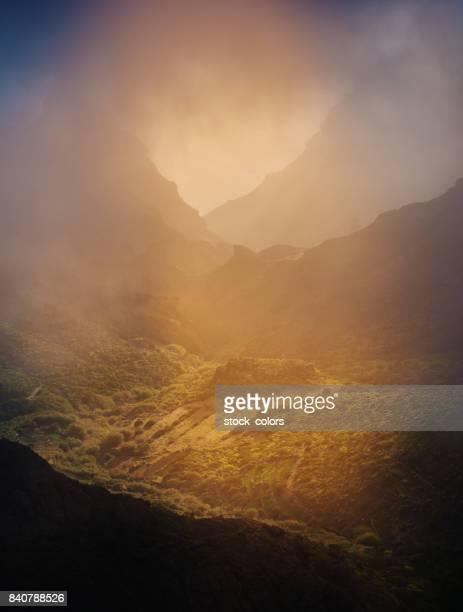sunset in Tenerife mountains