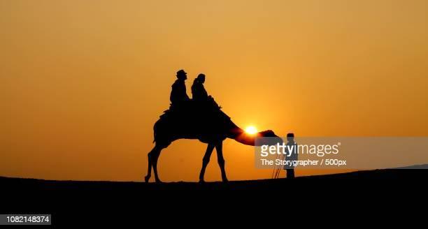 a sunset in thar - the storygrapher bildbanksfoton och bilder