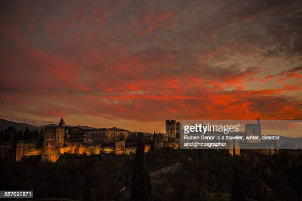 Sunset in the Alhambra