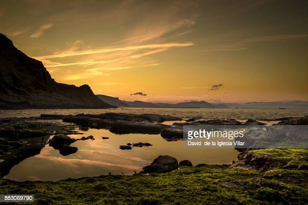 Sunset in the Basque coast