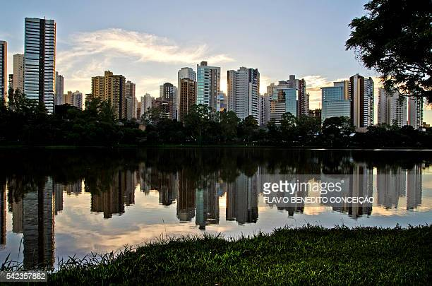 Sunset in the city of Londrina