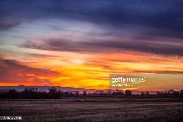 sunset in the country - boise idaho stock pictures, royalty-free photos & images