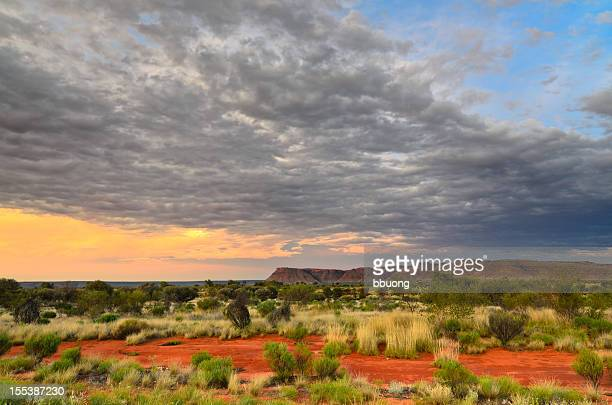 Sunset in the desert (Kings Kanyon, Australia)