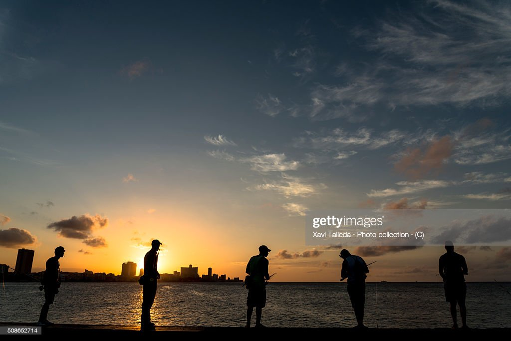 Sunset in the dock : Stock Photo