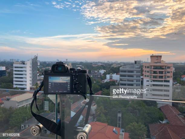 sunset in the downtown district of colombo, sri lanka - lanka stock pictures, royalty-free photos & images