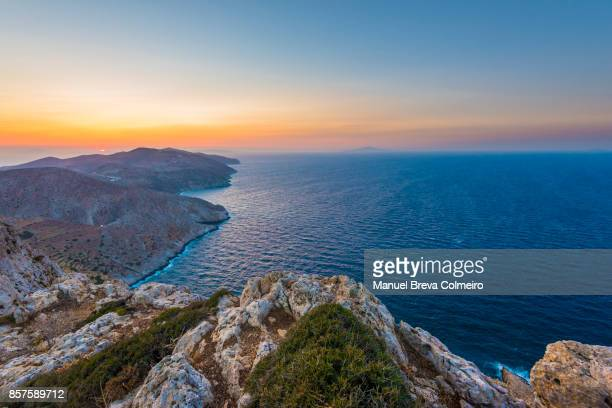 Sunset in the Greek islands