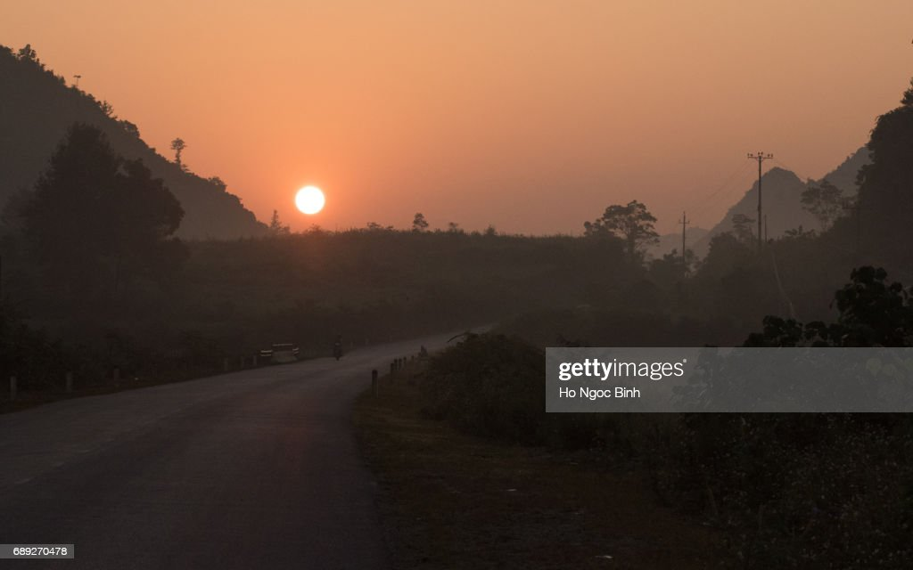 Sunset in the Hightland : Stock Photo