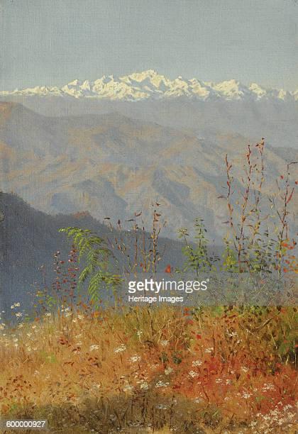 Sunset in the Himalayas 1879 Private Collection Artist Vereshchagin Vasili Vasilyevich