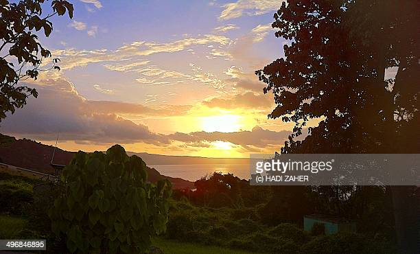 sunset in the indian ocean - christmas island stock pictures, royalty-free photos & images