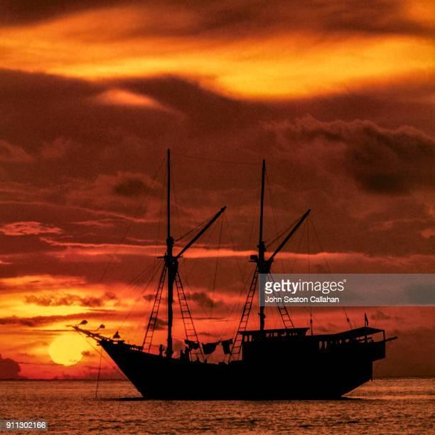 Sunset in the Mentawai Islands