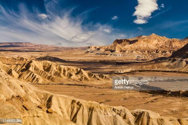 sunset in the negev desert. israel - israel stock-fotos und bilder