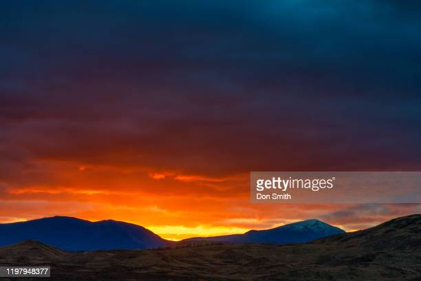 sunset in the scotland highlands - don smith stock pictures, royalty-free photos & images