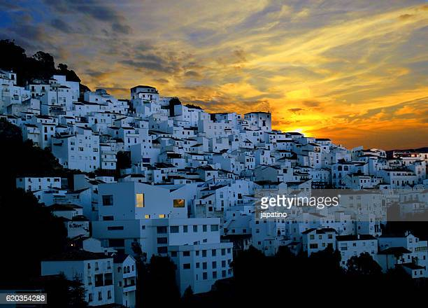 Sunset in the village of Casares