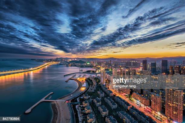 Sunset in the Xinghai bay.