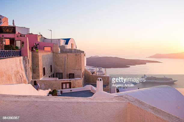 Sunset in Thira