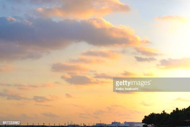 sunset in tokyo - dusk stock pictures, royalty-free photos & images