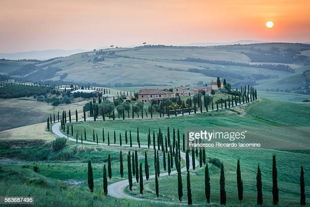 Sunset in Tuscany, landscape