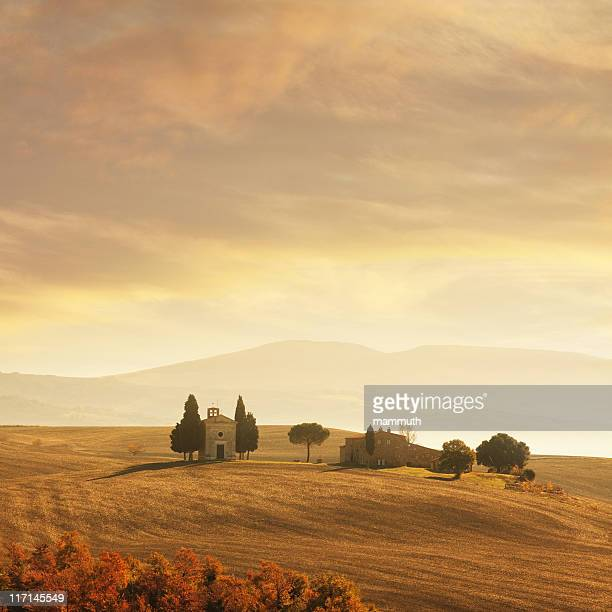 sunset in tuscany - siena italy stock pictures, royalty-free photos & images