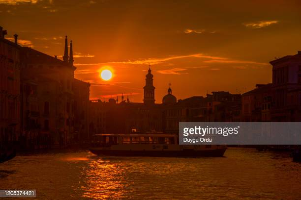 sunset in venice - côte d'ivoire stock pictures, royalty-free photos & images