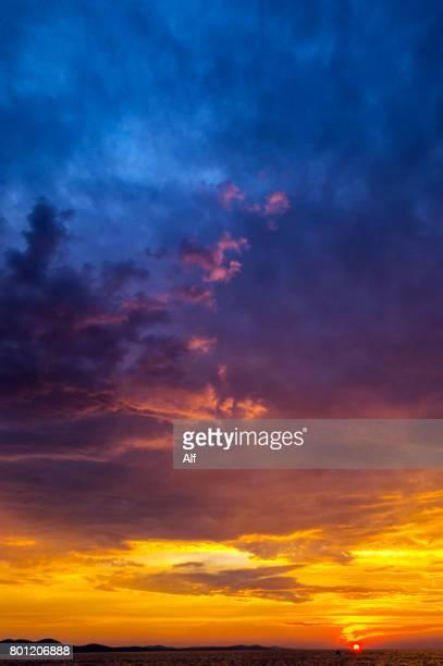 sunset in zadar, croatia - アドリア海 ストックフォトと画像