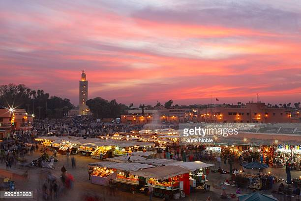 Sunset, Jemma El Fna, Marrakesh, Morocco