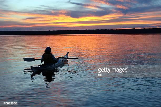 Sunset Kayaker