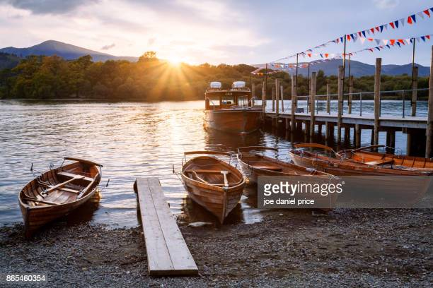 Sunset, Keswick, Cumbria, Lake District, England