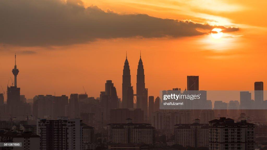 Sunset Kuala Lumpur : Stock Photo