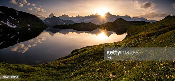 Sunset, Lacs de Fenetre, Switzerland
