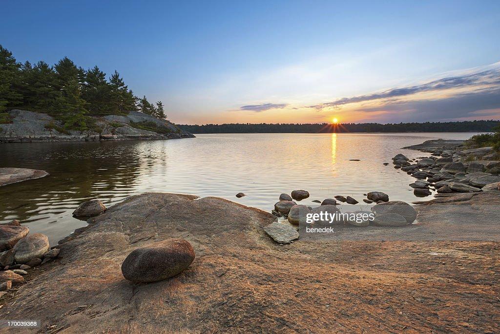 Sunset Lake Landscape : Stock Photo