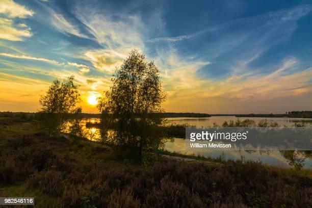 sunset lake - william mevissen fotografías e imágenes de stock