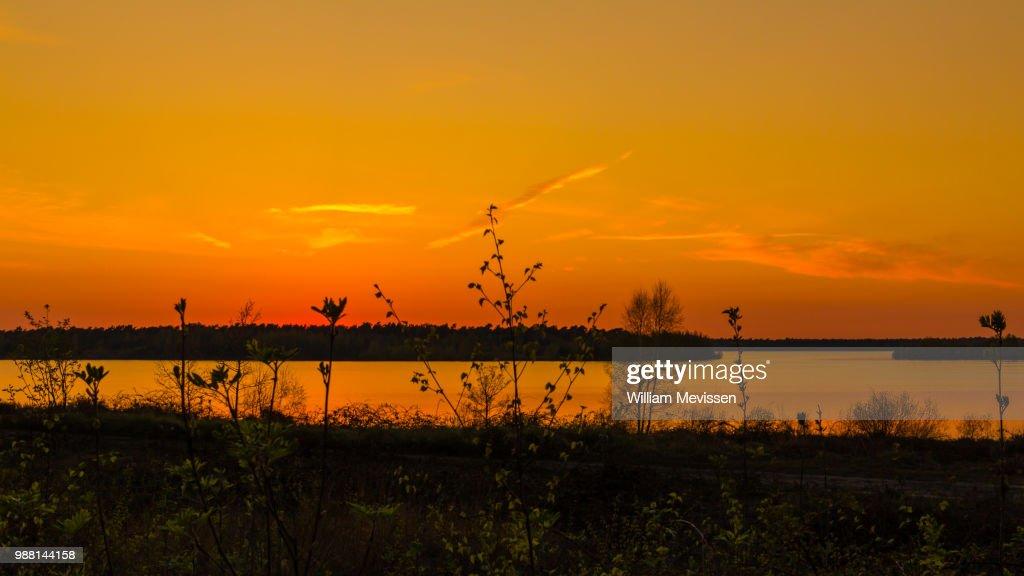 Sunset Lake View : Stockfoto