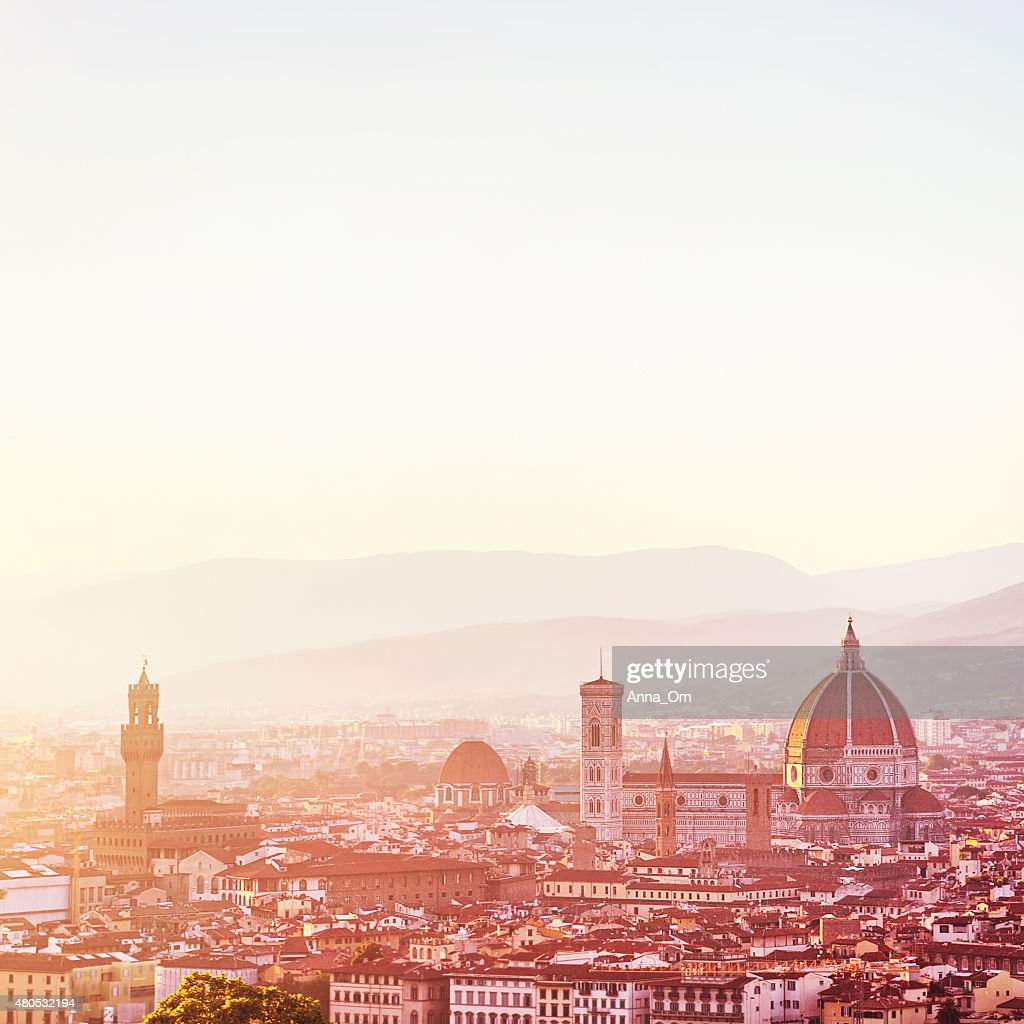 Sunset landscape of Florence : Stock Photo