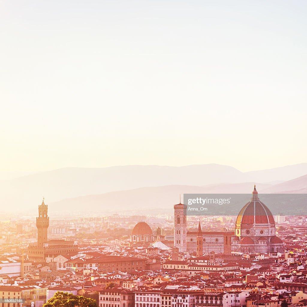 Sonnenuntergang Landschaft von Florenz : Stock-Foto