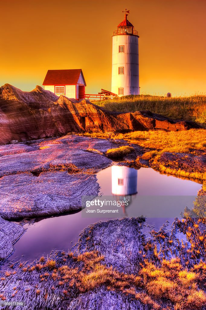 Sunset Lighhouse HDR : Stock Photo
