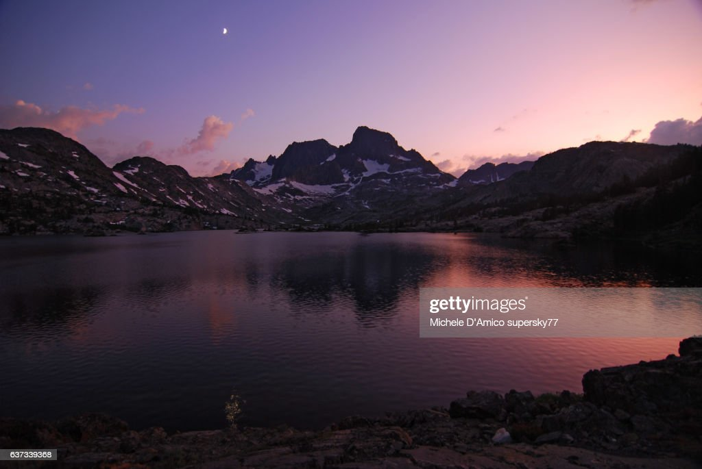 Sunset light on Garnet Lake : Stock Photo