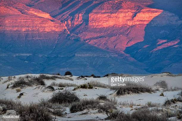 sunset light on sacramento mountains - don smith stock pictures, royalty-free photos & images