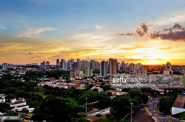 Sunset Londrina city Brazil