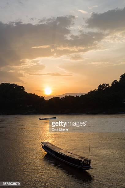 Sunset Luang Prabang Mekong view