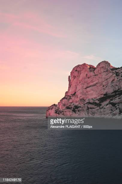 sunset marseille - calanques stock pictures, royalty-free photos & images