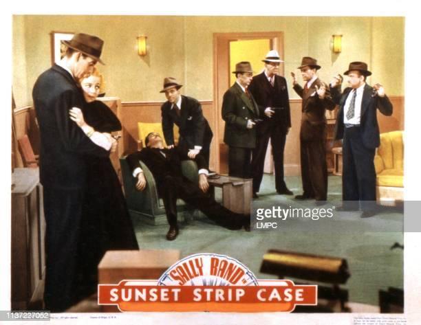 Sunset Murder Case lobbycard Reed Hadley Sally Rand George Douglas Vince Barnett 1938