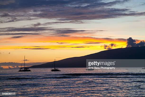 sunset near lahaina, maui - amit basu stock pictures, royalty-free photos & images