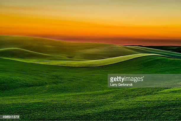 sunset near moscow idaho-palouse series - idaho stock pictures, royalty-free photos & images