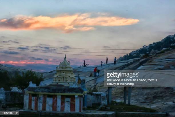 Sunset near Sita temple, Kolar, Karnataka, India