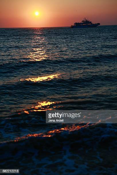 Sunset ocean cruise