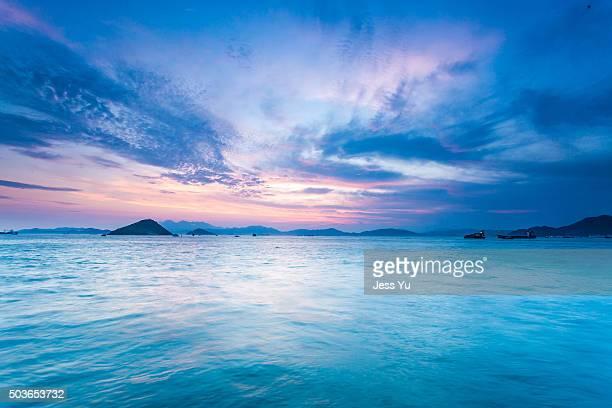 Sunset ocean in Hong Kong