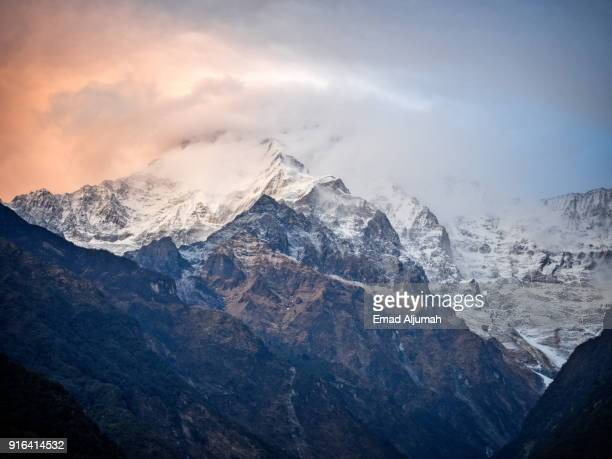 Sunset of Annapurna South, Nepal - March 2, 2017