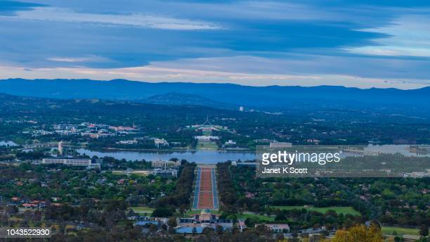 sunset of australia's capital, canberra - janet scott stock pictures, royalty-free photos & images