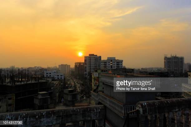 sunset of dhaka city-bangladesh - dhaka stock pictures, royalty-free photos & images