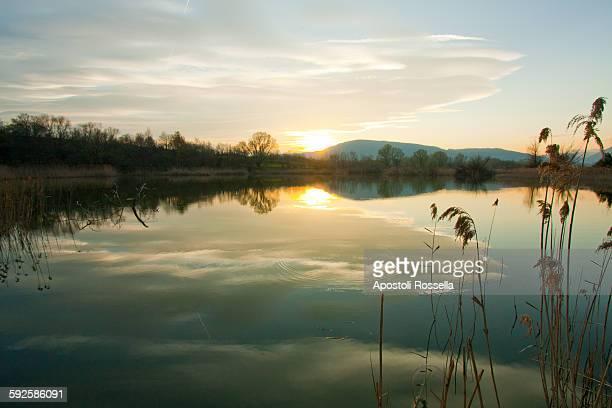 Sunset of lake Iseo